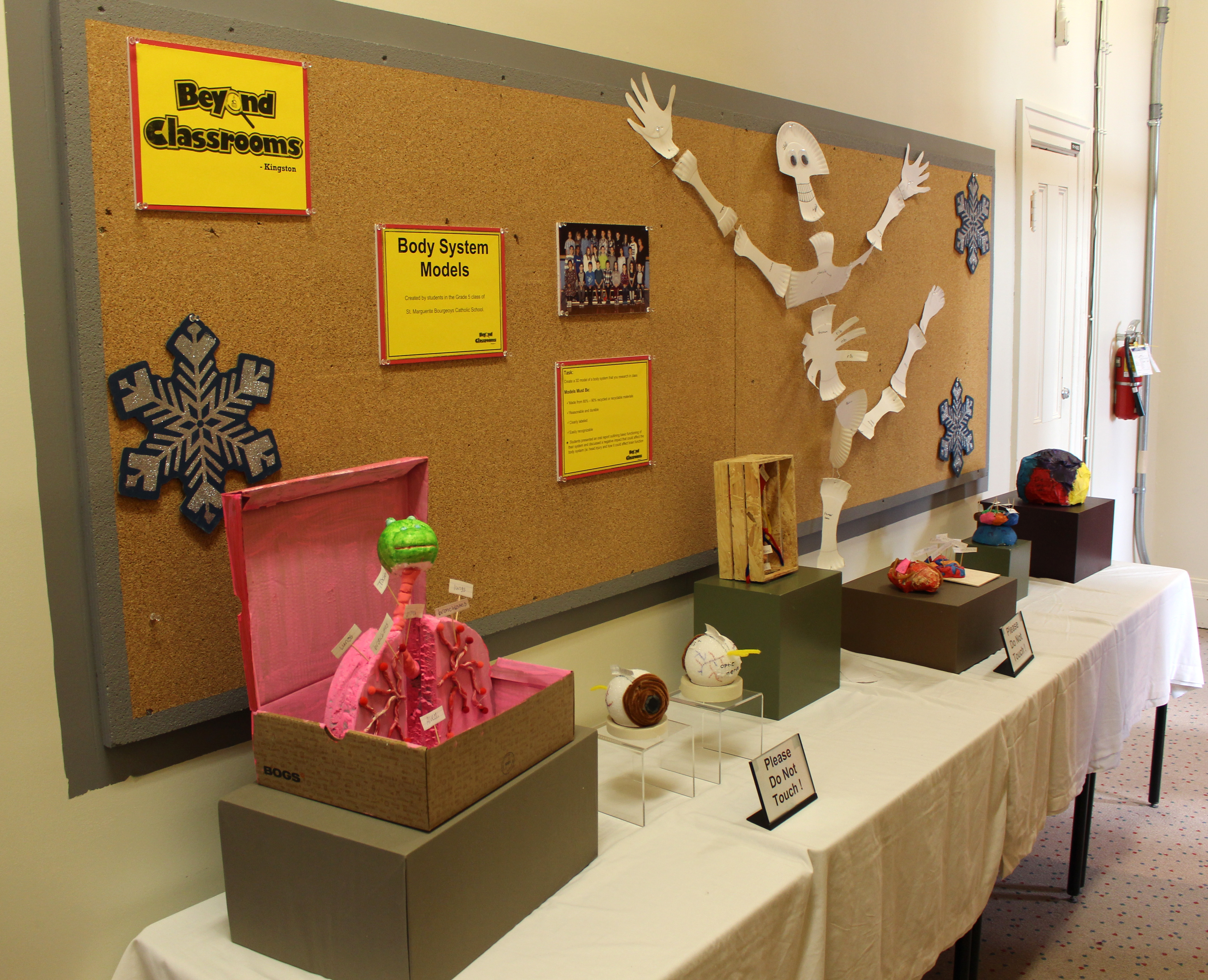 student exhibit at museum of health care