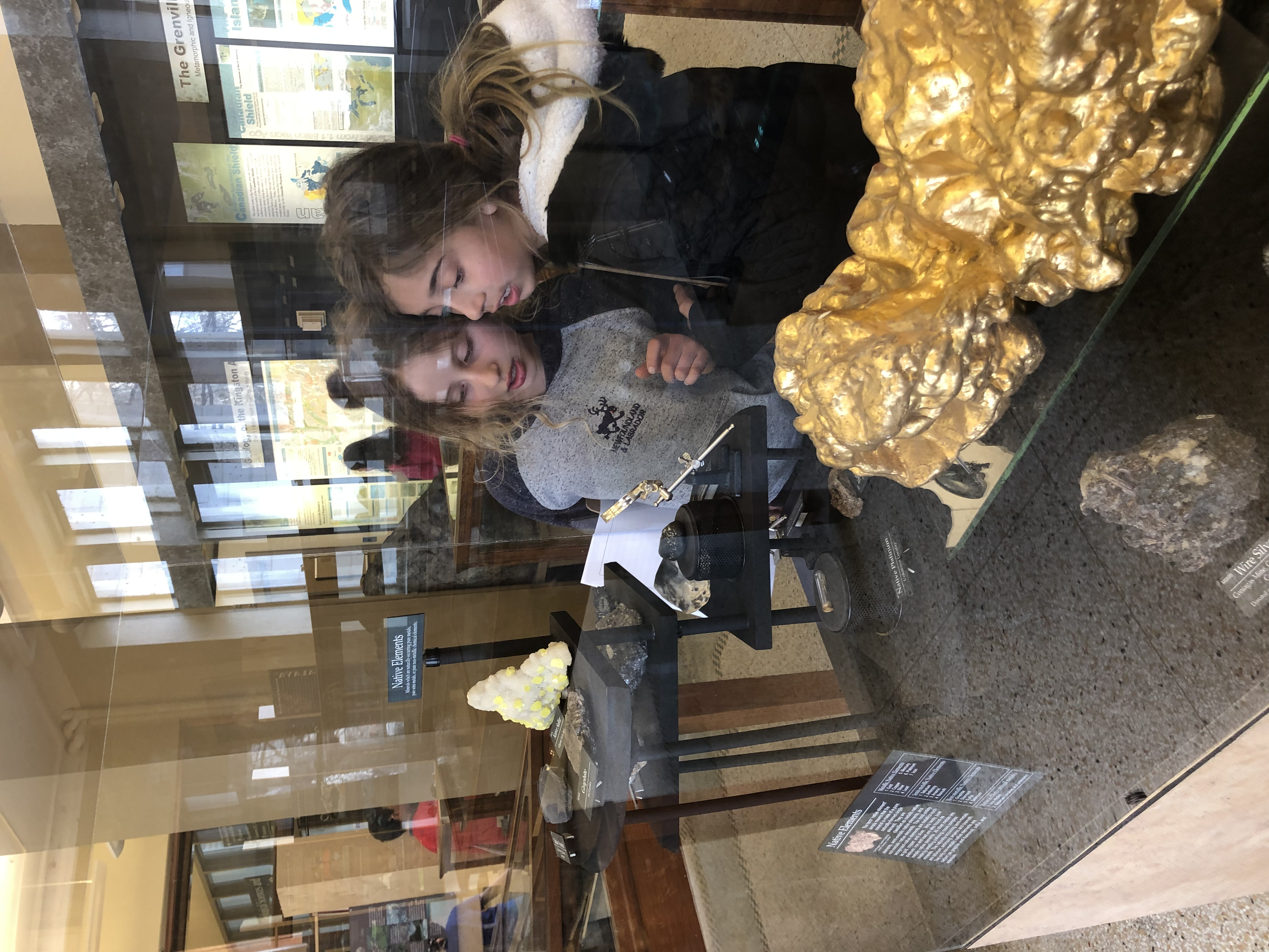 students explore minerals at Miller Museum of Geology
