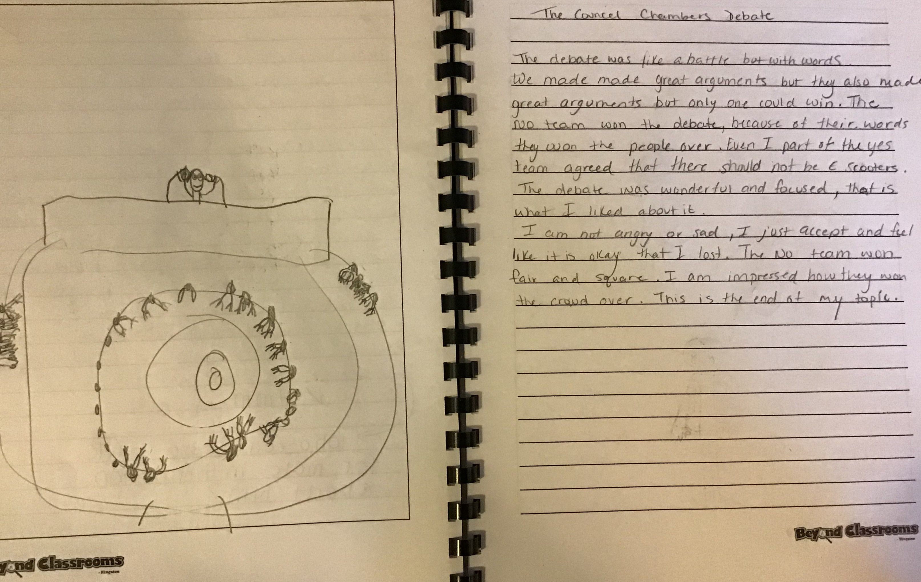 Student journal about debate