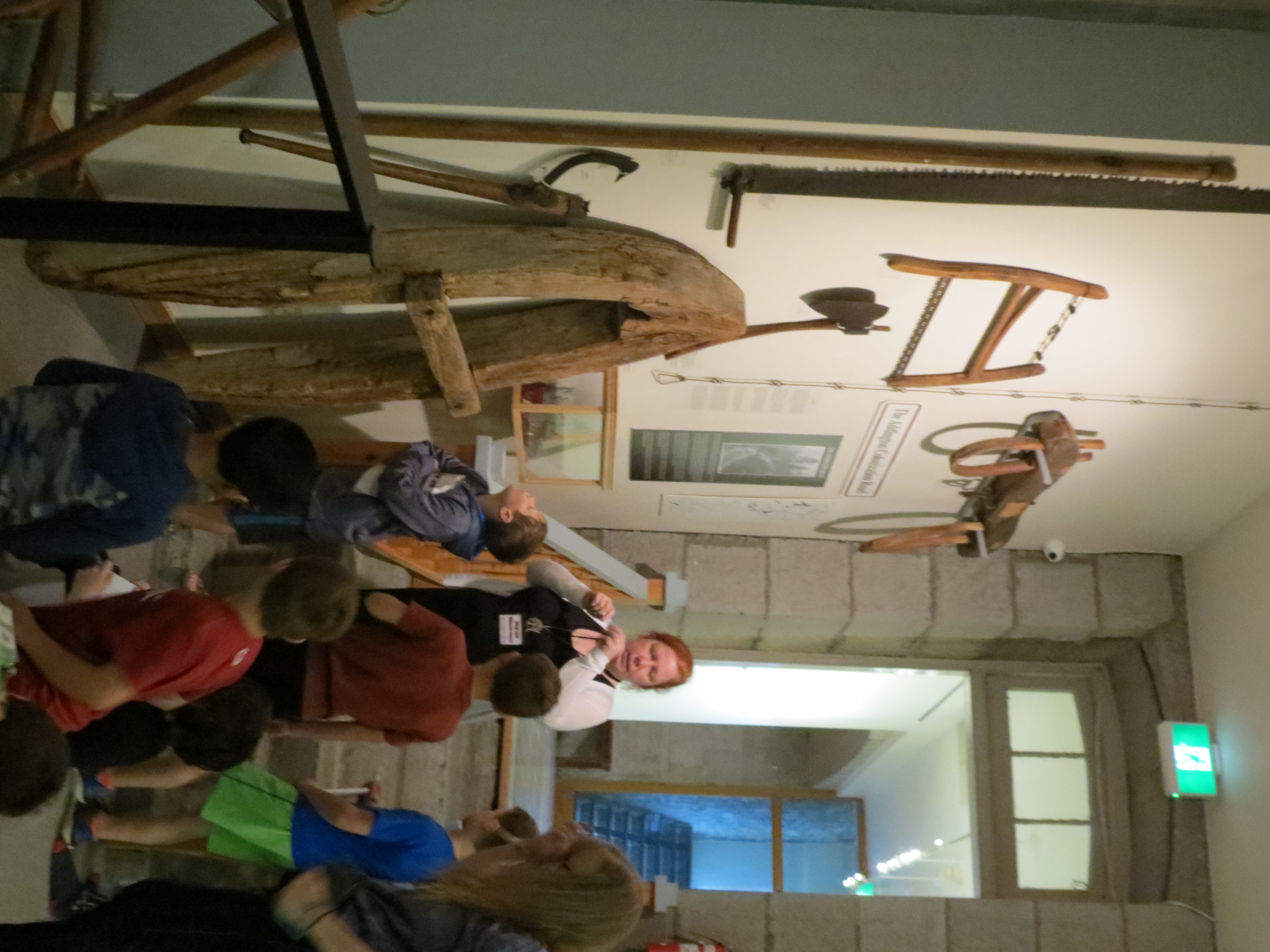 students explore artifacts and lennox and addington county museum and archives